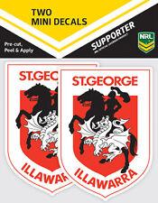 NRL St George Illawarra Dragons Mini Decal Stickers - Pack of 2