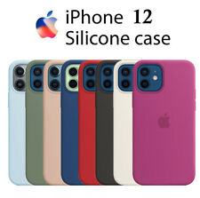 Funda SILICONA líquida for IPHONE 12 / pro / max / mini Calidad forro microfibra