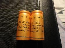 1PC.  33UF-450V ROEDERSTEIN ELECTROLYTIC AXIAL LEAD CAP.