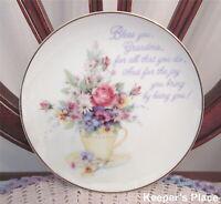 """Lasting Memories Bless You Grandma Grandmother Porcelain Plate 6.5"""""""