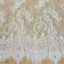 Retro Lace Fabric Trim Tulle Embroidery Rose Floral Wedding Fabric 110cm*150cm