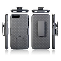 Case Clip Hard Cover Holster Stand Rugged Belt Heavy Duty For iPhone X 7 8 Plus