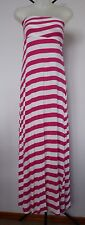 ED-IT-ED Size 10 Pink/White Candy Stripe Strapless Dress