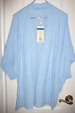 Leo & Nicole Womens 3/4 Sleeve Cardigan Sweater Xx-large Calm Blue 2xl