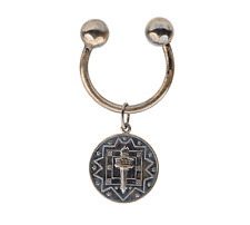 A Vintage Tiffany Sterling Silver Keychain & Charm