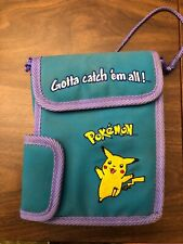 Pokemon Pikachu Case Gameboy Sling Pouch Purse Green/Purple