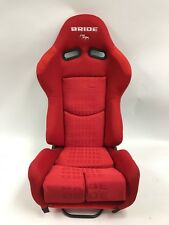 BRIDE GIAS V1 Red Cloth Pair Reclining Racing Seats Sliders 240sx Brackets S13