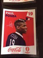 PANINI EURO 2016 EXTRA STICKERS COCA COLA FRANCE Paul Pogba