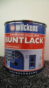 €3,00L/375 ml Wilckens Buntlack RAL 3000 hochglanz wetterbeständig innen/außen