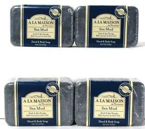 4 Count A La Maison 8.8 Oz Sea Mud Coconut & Olive Oils Hand & Body Soap