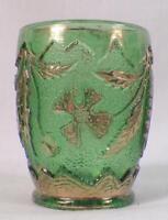 Delaware Toothpick Holder Green U S Glass EAPG 1899 15065 Antique Rare