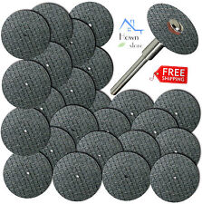 "100pcs Fiberglass Reinforced Cut Off Wheel Disc Mandrel 1/8"" Rotary Tool Set 100"