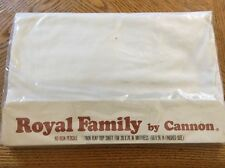 VINTAGE CANNON ROYAL FAMILY WHITE TWIN FLAT SHEET NEW IN PACKAGE USA!!