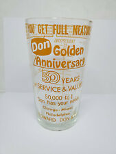 Vintage advertising measuring glass - Edward Don & Company - 50 Years (1391)