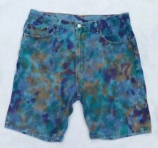 TIE~DYE RECYCLED DENIM JEANS SHORTS - LEVI'S Sz 36