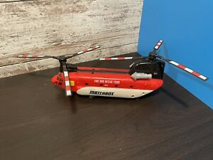 """12"""" Matchbox Fire And Rescue Team Power Launcher Chinook Helicopter"""