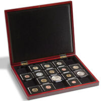 Leuchtturm Münzkassette VOLTERRA für QUADRUM-Kapseln Holz Sammelbox Münzen