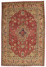 Vintage Tribal Oriental Ardabil Rug, 7'x10', Red/Pink, Hand-Knotted Wool Pile