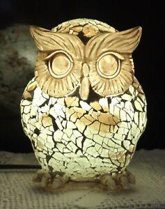 Ceramic Mosiac Owl Lamp