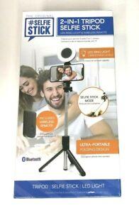 ReTrak Original Selfie Stick 2-in1 Tripod Led RIng Light & Wireless Remote - New