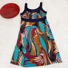 Blu Heaven Womens Dress Large Multi-Color Sleeveless Slinky Stretch Knit