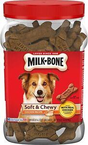 Milk-Bone Soft & Chewy Dog Treats with 12 Vitamins and Minerals - Chicken 25 OZ
