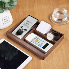 Desk Organizer Durable Practical Vintage Multifunction Case Wooden Storage Box