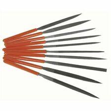10 Piece Tools Maintenance Needle File Kit w/ Integrated Plastic Handles & Case