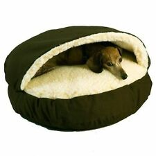 Pet Bed Igloo Cave Cat Puppy Soft Snuggle House Portable Hut Sleeping Nest S-grey
