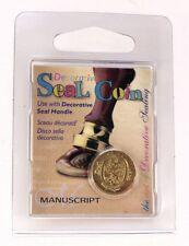 Manuscript Decorative Wax Sealing 18mm Coin Seal - Initial O