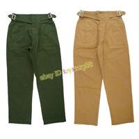 UK British Army Gurkha Pants Men's Tactical Khaki Bermuda Loose Casual Trousers