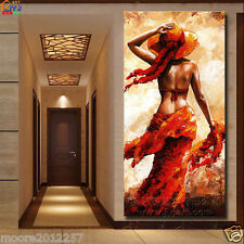 """Modern Large hand-painted art Oil Painting """"western girl"""" canvas NO framed"""