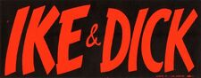 Large 1956 Eisenhower Nixon IKE DICK Bumper Sticker (4408)