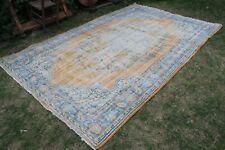 """Vintage Handmade Turkish Oushak Area Rug 10'4""""x6'6"""""""