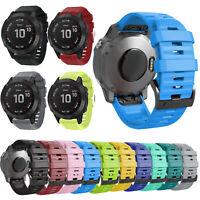 22mm Quickfit Silicone Wrist Band Strap +Buckle for Garmin Fenix 6/6 Pro Watch