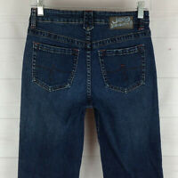 JAG JEANS womens size 4P stretch blue medium wash mid rise detailed bootcut