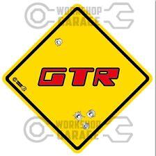Holden Torana GTR - RED LETTERS  - Bullet Hole Road Sign Sticker #15
