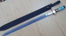 Custom Handmade Knife King's Damascus Steel Ancient Double edge Sword