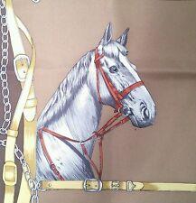 Vintage Beautiful GUCCI HORSE scarf 100% SILK ITALY foulard HARD FIND RARE STEED