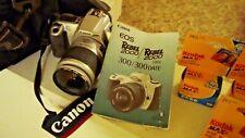 Canon Rebel Eos 2000 35mm Film Camera, Case, Strap, Film & Manual, 28-90mm Zoom