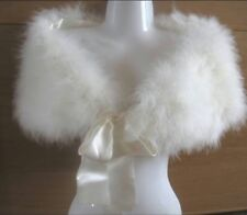 WEDDING 👰🏻 *REDUCED* Pair Of White Marabou Shrugs - Wedding / Formal Wear