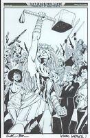 FEARLESS DEFENDERS PAGE 20 FULL PAGE KARL KESEL THOR ORIGINAL COMIC BOOK ART
