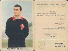 FIGURINA CARTONATA* IL CALCIO ITALIANO 1961/62-SIDAM TORINO*- ANTONIO PIN -N.1