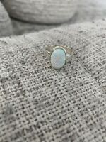 Opal Oval Ring Size 8.5 SS