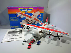 GALOOB MICRO MACHINES C7 AIR CARGO PLAYSET VINTAGE 1988 W/BOX AND CARS