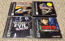 PS1 RESIDENT EVIL 4 complete HORROR video game lot NM DISCS Nemesis SURVIVOR
