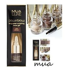 MUA Luxe Power Brow Gel pomade  - Dark Brown eyebrow pomade with brush