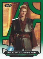 2018 Topps Star Wars Galactic Files Green AOTC-21 Anakin Skywalker 070/199