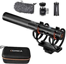Comica CVM-VM20 Shotgun Microphone With Shock Mount Super Cardioid Condenser Mic