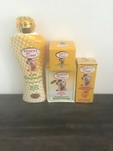 Gamme Piment Doux  ECLAIRCISSANT avec un serum,crème,savon,lait,Résultat 7J
